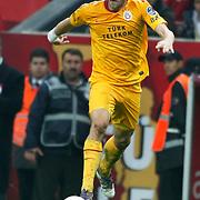 Galatasaray's Johan ELMANDER during their Turkish Super League soccer match Galatasaray between Bursaspor at the TT Arena at Seyrantepe in Istanbul Turkey on Sunday 16 October 2011. Photo by TURKPIX