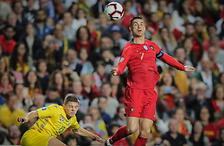 March 22, 2019 - Na - Lisbon, 03/22/2019 - The Portuguese Football Team received this afternoon their Ukrainian counterpart at the Estádio da Luz in Lisbon, in the Group B game, in the qualifying round for the 2020 European Championship. Cristiano Ronaldo; Vitaliy Mykolenko  (Credit Image: © Atlantico Press via ZUMA Wire)