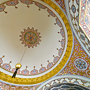 "Ornate decorations of the Imperial Council building (in Turkish: Dîvân-ı Hümâyûn) inside the Topkapi Palace in Istanbul. This was the chamber in which the ministers of state, council ministers (Dîvân Heyeti), the Imperial Council, consisting of the Grand Vizier (Paşa Kapısı), viziers, and other leading officials of the Ottoman state, held meetings. It is also called Kubbealtı, which means ""under the dome"", in reference to the dome in the council main hall. It is situated in the northwestern corner of the courtyard next to the Gate of Felicity."