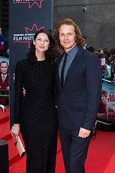 "Caitriona Balfe and Sam Heughan. Opening Night Gala and World Premiere of ""The Legend of Barney Thompson"", Edinburgh International Film Festival 17 - 28 June 2015."