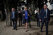Roberta Pinotti durante la sigla dell'accordo tra l'Italia e l'Unesco per la creazione di una task force italiana per la salvaguardia del patrimonio culturale, Roma 16 febbraio 2016. Christian Mantuano / OneShot<br /> <br /> Roberta Pinotti during the signing of the agreement of Italy and UNESCO for the creation of an Protection Italian task force for the cultural heritage, Rome February 16, 2016. Christian Mantuano / OneShot