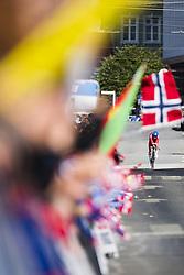 September 18, 2017 - Bergen, NORWAY - 170918 Iver Johan Knotten of Norway competes during the Men Under 23 Individual Time Trial on September 18, 2017 in Bergen..Photo: Jon Olav Nesvold / BILDBYRN / kod JE / 160020 (Credit Image: © Jon Olav Nesvold/Bildbyran via ZUMA Wire)