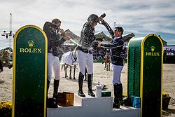 Podium GP, Patteet Gudrun, BEL, Devos Pieter, Philippaerts Olivier<br /> Rolex Grand Prix CSI 5* - Knokke 2017<br /> © Hippo Foto - Dirk Caremans<br /> 09/07/2017