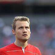 Goalkeeper Simon Mignolet, Liverpool, during the Manchester City Vs Liverpool FC Guinness International Champions Cup match at Yankee Stadium, The Bronx, New York, USA. 30th July 2014. Photo Tim Clayton