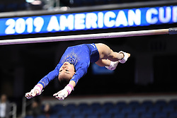 March 2, 2019 - Greensboro, North Carolina, US - LEANNE WONG practices on the uneven bars before the competition at the Greensboro Coliseum in Greensboro, North Carolina. (Credit Image: © Amy Sanderson/ZUMA Wire)