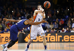 November 17, 2017 - Barcelona, Catalonia, Spain - Guillem Vives and Phil Pressey during the match between FC Barcelona v Anadolou Efes corresponding to the week 8 of the basketball Euroleague, in Barcelona, on November 17, 2017. (Credit Image: © Joan Valls/NurPhoto via ZUMA Press)