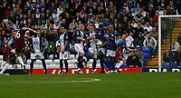 Photo: Steve Bond.<br />Birmingham City v West Ham United. The FA Barclays Premiership. 18/08/2007. Mark Noble (16 left) hits a free kick intio the wall