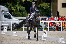 SCHMIDT Henriette (GER), Rocky's Sunshine<br /> Impressionen Abreiteplatz<br /> Junge Reiter Team Competition Part 1<br /> Pilisjászfalu - FEI Youth Dressage EUROPEAN CHAMPIONSHIPS 2020<br /> 17. August 2020<br /> © www.sportfotos-lafrentz.de/Stefan Lafrentz