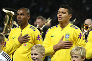 Fernandinho and Thiago Silva (Brazil) during the International Friendly Game football match between Germany and Brazil on march 27, 2018 at Olympic stadium in Berlin, Germany - Photo Laurent Lairys / ProSportsImages / DPPI