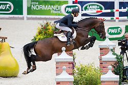 Dayro Arroyave, (COL), Eldorado vh Vijverhof - Team & Individual Competition Jumping Speed - Alltech FEI World Equestrian Games™ 2014 - Normandy, France.<br /> © Hippo Foto Team - Leanjo De Koster<br /> 02-09-14