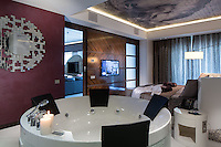 Interior view of Miracle Suite in Mirotel Resort & Spa hotel. Mirotel is 5* resort located in the heart of Truskavets, in western Ukraine.