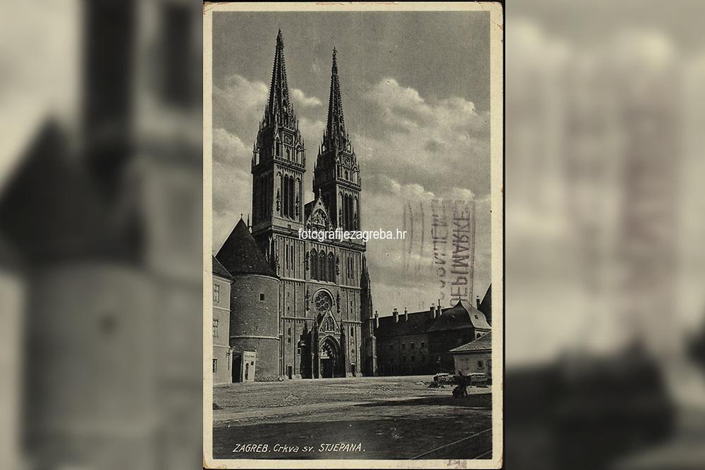 Zagreb : Crkva sv. Stjepana. <br /> <br /> ImpresumZagreb : [1931].<br /> Materijalni opis1 razglednica : tisak ; 14 x 9 cm.<br /> NakladnikPapirna H. Ruždija<br /> Vrstavizualna građa • razglednice<br /> ZbirkaGrafička zbirka NSK • Zbirka razglednica<br /> ProjektPozdrav iz Hrvatske • Pozdrav iz Zagreba<br /> Formatimage/jpeg<br /> PredmetZagreb –– Kaptol<br /> Katedrala Uznesenja Marijina (Zagreb)<br /> SignaturaRZG-KAP-7<br /> Obuhvat(vremenski)20. stoljeće<br /> NapomenaRazglednica je putovala 1931. godine.<br /> PravaJavno dobro<br /> Identifikatori000955266<br /> NBN.HRNBN: urn:nbn:hr:238:409978 <br /> <br /> Izvor: Digitalne zbirke Nacionalne i sveučilišne knjižnice u Zagrebu