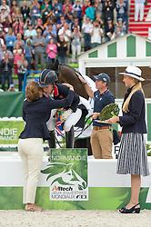 Charlotte Dujardin, (GBR), Princess Haya bint Al Hussein - Freestyle Grand Prix Dressage - Alltech FEI World Equestrian Games™ 2014 - Normandy, France.<br /> © Hippo Foto Team - Jon Stroud<br /> 25/06/14