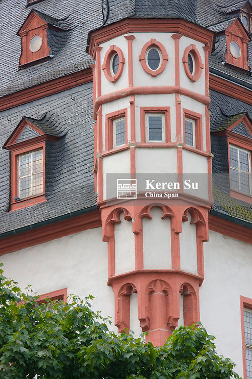 """The old """"shop and dance house"""" in Florin's Market, Koblenz, Germany"""