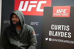 07.04.2016, Zagreb, CRO, UFC Fight Night, Pressekonferenz, im Bild Curtis Blaydes // Fighters during the press conference before UFC Fight Night at Zagreb, Croatia on 2016/04/07. EXPA Pictures © 2016, PhotoCredit: EXPA/ Pixsell/ Dalibor Urukalovic<br /> <br /> *****ATTENTION - for AUT, SLO, SUI, SWE, ITA, FRA only*****