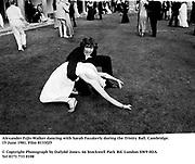 Alexander Fyjis-Walker dancing with Sarah Fazakerly during the Trinity Ball. Cambridge. 15 June 1981. Film 8133f25<br />© Copyright Photograph by Dafydd Jones<br />66 Stockwell Park Rd. London SW9 0DA<br />Tel 0171 733 0108