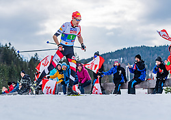 02.03.2019, Seefeld, AUT, FIS Weltmeisterschaften Ski Nordisch, Seefeld 2019, Nordische Kombination, Langlauf, Team Bewerb 4x5 km, im Bild Mario Seidl (AUT) // Mario Seidl of Austria during the Cross Country Team competition 4x5 km of Nordic Combined for the FIS Nordic Ski World Championships 2019. Seefeld, Austria on 2019/03/02. EXPA Pictures © 2019, PhotoCredit: EXPA/ Stefan Adelsberger