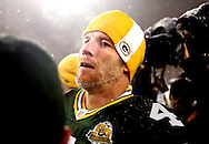 Green Bay Packers' Brett Favre after beating the Seahawks 42-20. .The Green Bay Packers hosted the Seattle Seahawk in the NFC Divisional Playoffs Saturday January 12, 2008. Steve Apps-State Journal.
