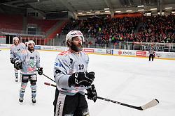 Daniel Tudin of Rittner Baum celebrates goal during Ice Hockey match between HDD SIJ Acroni Jesenice and Rittner Buam in 2nd Semifinal of Alpine League 2017/18 on March 24, 2018 in Arena Podmezakla, Jesenice, Slovenia. Photo by Urban Urbanc / Sportida