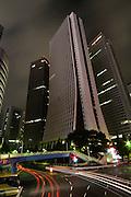 Shinjuku Skyscrapers - Sompo Japan Head Office at night