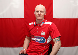 Team England's Simon Lawson poses for a photo during the kitting out session at Kukri Sports HQ, Preston.