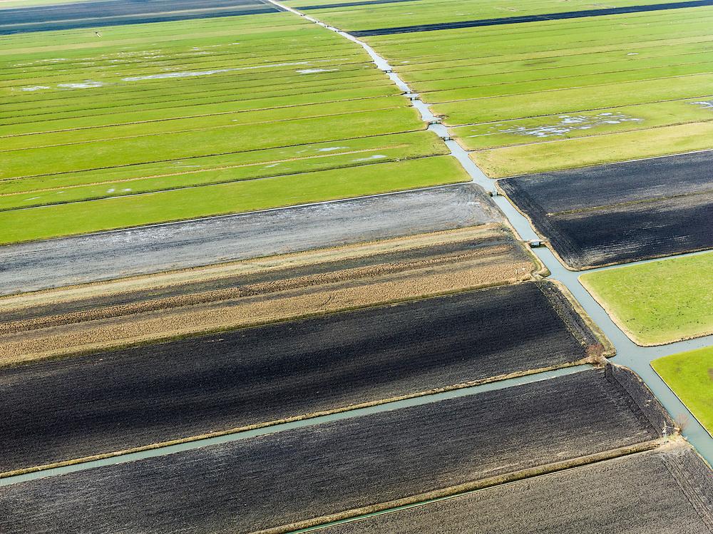 Nederland, Zuid-Holland, Gemeente Kaag en Braassem, 20-02-2012; .Griet- en Vriesekoopsche Polder.Land divison in west-Netherlands..luchtfoto (toeslag), aerial photo (additional fee required);.copyright foto/photo Siebe Swart.