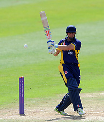 Durham's Phil Mustard hits out - Photo mandatory by-line: Harry Trump/JMP - Mobile: 07966 386802 - 29/07/15 - SPORT - CRICKET - Somerset v Durham - Royal London One Day Cup - The County Ground, Taunton, England.