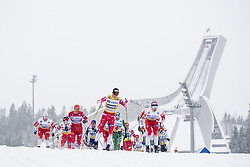 March 9, 2019 - Oslo, NORWAY - 190309 Martin Johnsrud Sundby of Norway, Aleksandr Bolsjunov of Russia, Johannes Høsflot Klæbo of Norway  and Simen Hegstad Krüger of Norway compete in men's 50 km classic technique during the FIS Cross-Country World Cup on March 9, 2019 in Oslo..Photo: Fredrik Varfjell / BILDBYRÃ…N / kod FV / 150211. (Credit Image: © Fredrik Varfjell/Bildbyran via ZUMA Press)