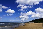 beach at Jurmala beach resort on the Baltic coast, Latvia