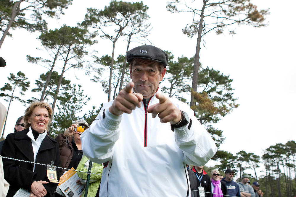 Huey Lewis mugs for the camera during the 2009 AT&T Pebble Beach Pro Am