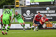Forest Green Rovers Liam Noble (15) shoots at goal during the Vanarama National League match between Forest Green Rovers and York City at the New Lawn, Forest Green, United Kingdom on 20 August 2016. Photo by Shane Healey.