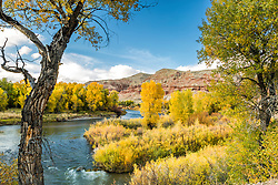 The Wind River and badlands of Dubois Wyoming, blanketed in autumn glory.