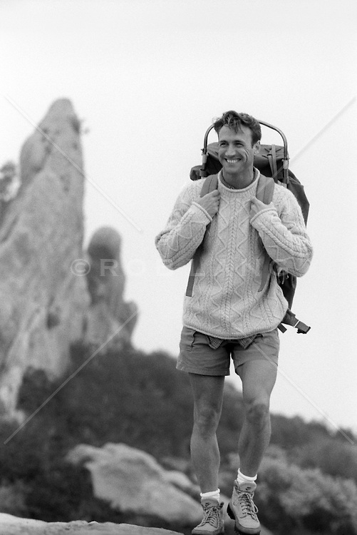handsome male hiker outdoors in Southern California