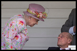 June 18, 2017 - Egham, United Kingdom - Britain's QUEEN ELIZABETH II chats with PRINCE PHILIP, Duke of Edinburgh in the Royal box at the Cartier Queen's Cup Final at the Guards Polo club. (Credit Image: © Stephen Lock/i-Images via ZUMA Press)