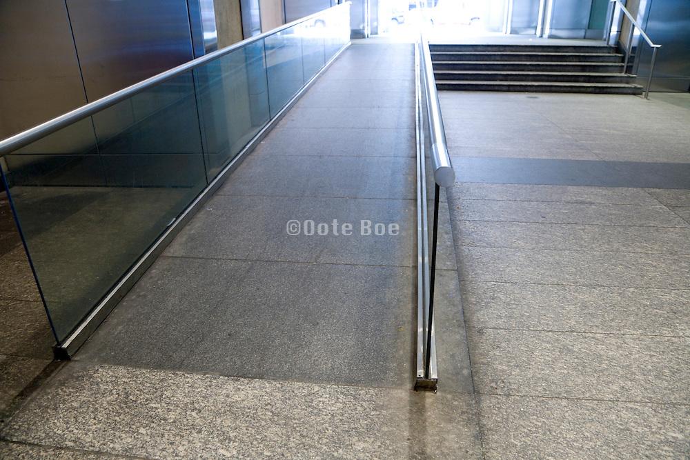 handicap ramp and stairs New York city