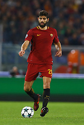 October 31, 2017 - Rome, Italy - Federico Fazio of Roma during the UEFA Champions League group C match between AS Roma and Chelsea FC at Stadio Olimpico on October 31, 2017 in Rome, Italy. (Credit Image: © Matteo Ciambelli/NurPhoto via ZUMA Press)