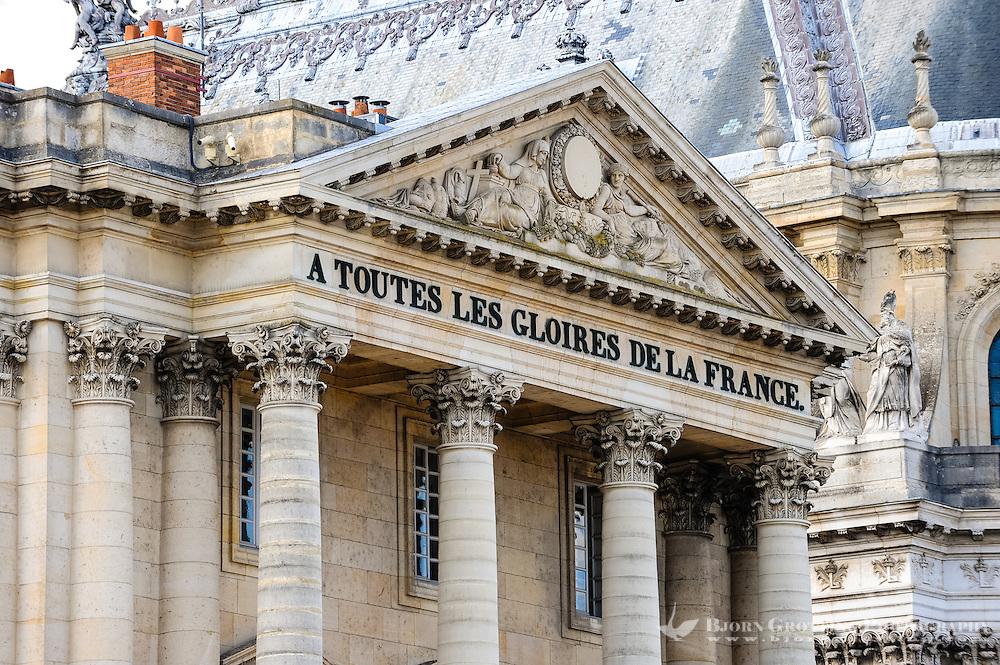 The Palace of Versailles, or simply Versailles, is a royal château close to Paris, France. Pavillon Gabriel.