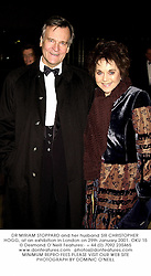 DR MIRIAM STOPPARD and her husband SIR CHRISTOPHER HOGG, at an exhibition in London on 29th January 2001.OKU 15
