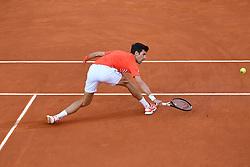 May 12, 2019 - Madrid, SPAIN - Novak Djokovic (Ser) defeated Stefanos Tsitsipas (Gre) 6/3, 6/4 (Credit Image: © Panoramic via ZUMA Press)