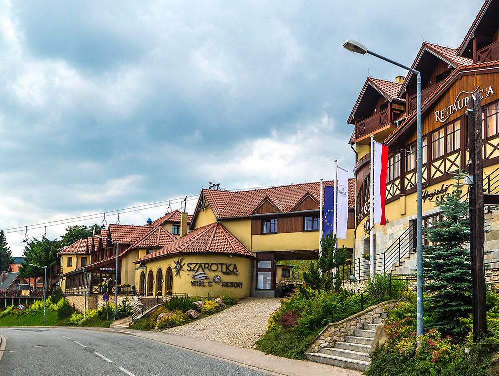 Zieleniec, dzielnica Dusznik-Zdroju, Polska<br /> Zieleniec, the quarter of Duszniki-Zdrój, Poland