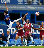 Football - 2019 / 2020 Premier League - Everton vs Aston Villa<br /> <br /> Ezri Konsa of Aston Villa and Michael Keane of Everton at Goodison Park<br /> <br /> COLORSPORT/LYNNE CAMERON