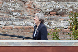 26.05.2017, Taormina, ITA, 43. G7 Gipfel in Taormina, im Bild Englands Premierministerin Theresa May // Britain's Prime Minister Theresa May during the 43rd G7 summit in Taormina, Italy on 2017/05/26. EXPA Pictures © 2017, PhotoCredit: EXPA/ Johann Groder