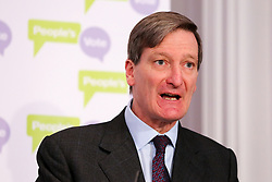 © Licensed to London News Pictures. 27/03/2019. London, UK. Dominic Grieve MP - Conservative former Attorney General speaking at a People's Vote press conference in Westminster setting out an analysis of the different Brexit options facing Members of Parliament in indicative votes. Later today the MPs will votes on a series of alternative Brexit outcomes. Photo credit: Dinendra Haria/LNP