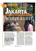 Article sur Jakarta, la capitale de l'Indonésie pour le magazine Courrier-Cadres. 2009