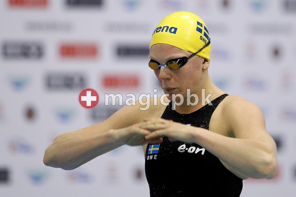 Petra GRANLUND of Sweden prepares herself before competing in the women's 100m Butterfly Semifinal during the 15th European Short Course Swimming Championships in Szczecin, Poland, Saturday, Dec. 10, 2011. (Photo by Patrick B. Kraemer / MAGICPBK)