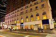 New York, NY - 3 November 2020. New York City anticipates presidential election results as polls in some states close. The stores on the ground level of the Herald Towers in Herald Square are boarded up in anticipation of unrest after election results are known.