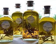 Bottles of Vinagrette made at Longueville House.