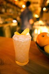 The Sunny Jim -- gin, lemon, vanilla, pineapple kaffir lime leaf and soda -- at The Progress restaurant, Tuesday, Dec. 15, 2015, in San Francisco, Calif. (Photo by D. Ross Cameron)