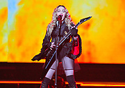 "NASHVILLE, TN - JANUARY 18: Singer Madonna performs during her ""Rebel Heart"" tour at Bridgestone Arena on January 18, 2016 in Nashville, Tennessee."