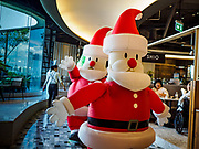 02 DECEMBER 2018 - BANGKOK, THAILAND: Christmas activities at EmQuartier Mall, an upscale mall in Bangkok. Although Thailand is a Buddhist country, the commercial holiday of Christmas is widely celebrated.      PHOTO BY JACK KURTZ